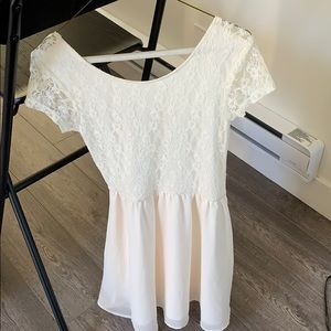 H&M half lace dress